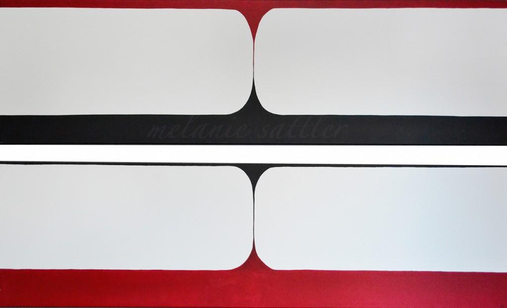 Acryl auf Leinwand Duo 50 x 200 cm