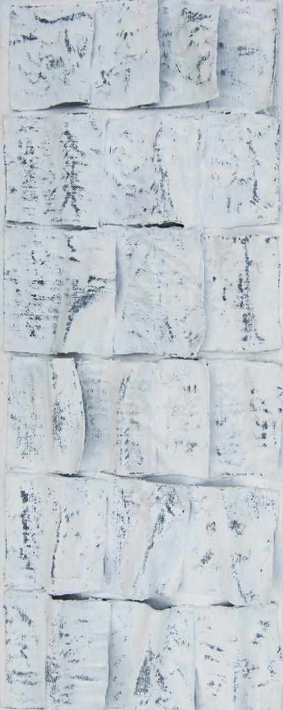 Gewebe auf Leinwand 50 x 20 cm